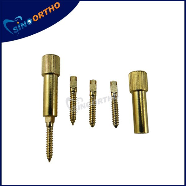 sino ortho spiral end gold screw post