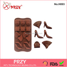 Wholesale high heel shoes silicone chocolate mould supplier