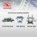 Continuous sealing machine with ink solid printer