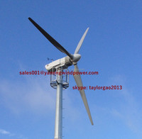 Industraial wind power system, large wind spinner 30kw wind turbine with 14m rotor diameter