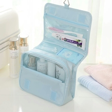 Hot sale zipper cosmetic bag custom makeup pouch with pocket inside