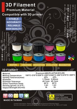 EXTEK 3D FILAMENT / ABS/PLA/PVA/NYLON 3D Printer Filament - Best Quality, Made in Taiwan