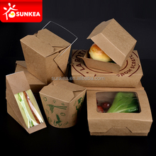 Disposable Kraft food packaging box, paper lunch box