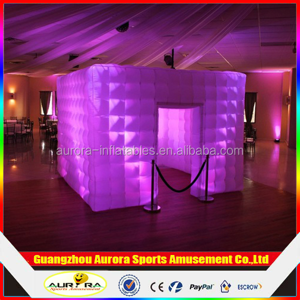 Popular Oxford Material Inflatable Office Pod/Inflatable squre Photo Booth Portable