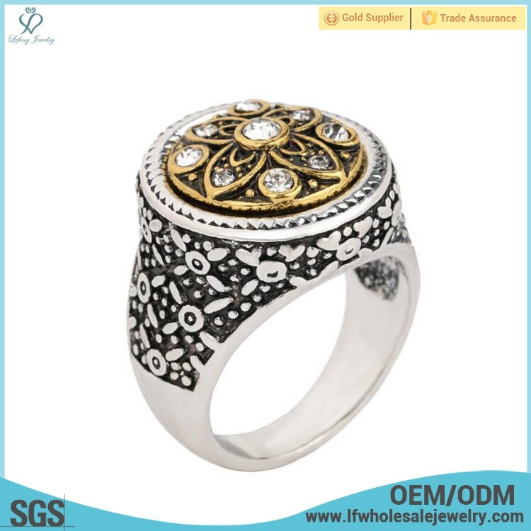 Wholesale fancy sample men's turkish mechanical engagement wedding diamond ring