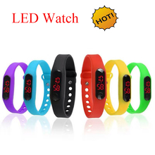 China Supplier Mens Womens Striking Silicone LED Sport Bracelet Touch Digital Wrist Watch online shopping