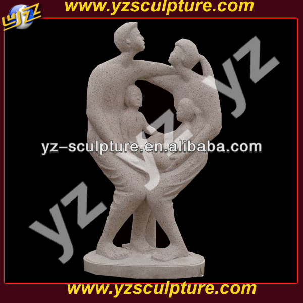 a family stone abstract sculpture ABSN-D063