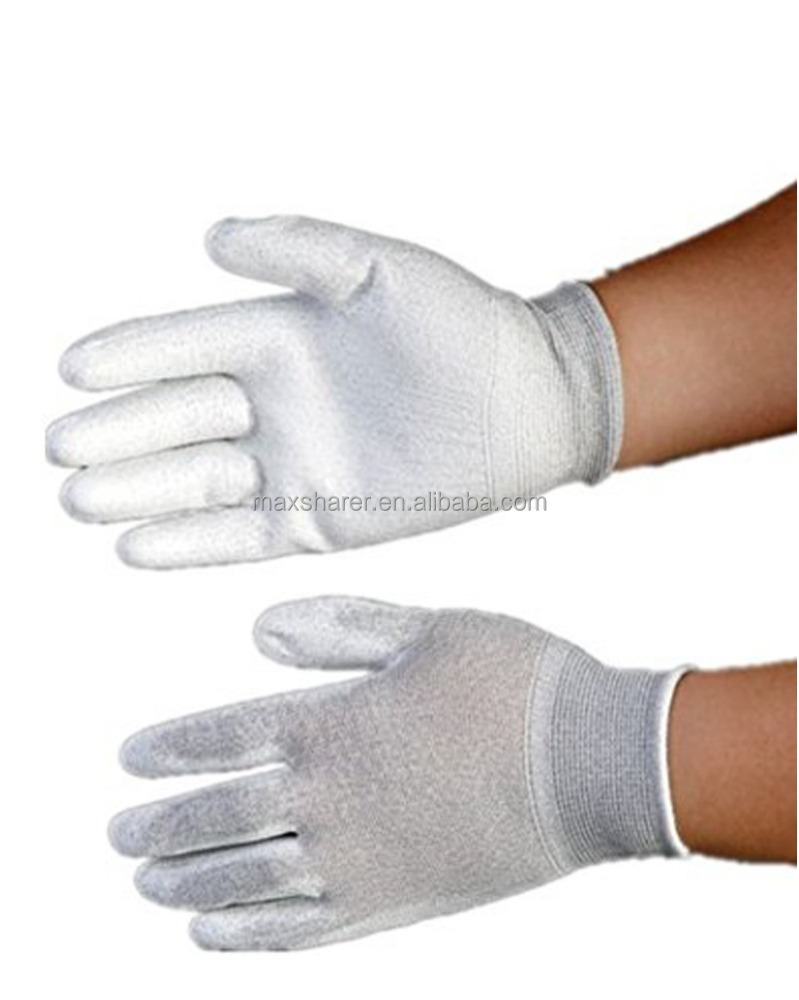 ESD Dotted Nylon coating working safety gloves