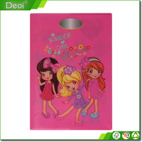 Deoi A4 A5 size PP Plastic soft cover book printing School Exercise Plastic PVC Book Cover