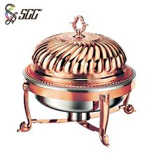 Commercial red rose plated wholesale chafing dishes for wedding parties