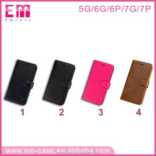 PU leather universal detachable separable leather phone case for iphone5 6 6+ 7 7+