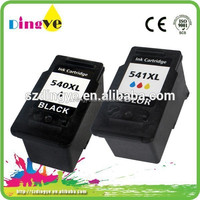 Refillable inkjet cartridge for canon PG 540xl CL 541xl remanufactured ink cartridge