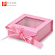 Custom luxury clothes / skincare products / hair extension paper gift box packaging with PVC window