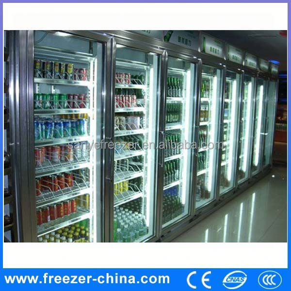 Glass door thermo electronic fridge/commercial refrigerator