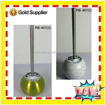 Household stainless steel toilet brush with holder