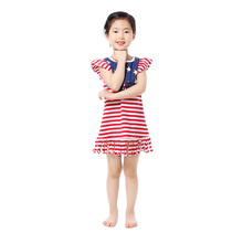 <strong>Girl's</strong> boutique <strong>dress</strong> baby frock one piece flutter sleeve bulk wholesale <strong>dress</strong> for little girl