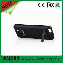 OEM Full capacity portable power bank back-up 3500mA external battery case with stand for Iphone 6
