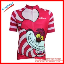 Kids and adults full sublimation bike jersey and Cartoon Bicycle shirt or cycling jersey