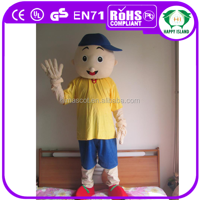 HI CE Adult hot Christmas Caillou cartoon Mascot Costume Fancy advertising party mascot costume