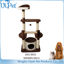 Factory Price Wholesale Pet Products Cat Tree With Plush And Sisal Materials