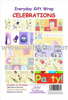 Celebrations Gift Wrapping paper