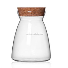 Hot Sale Products Of Food Container Clear Small Mini Glass Jars With Cork Stoppers