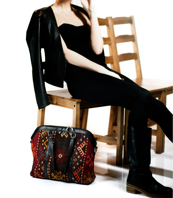 Kilim Tote Bag - Shoulder Bag - Woman Handbag