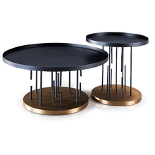 modern fashion design stainless steel round coffee table living room furniture