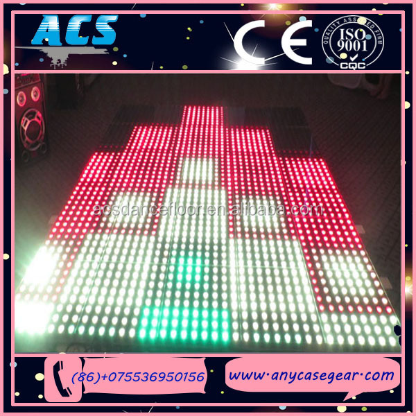 ACS Charming Liquid Flowing Rainbow Colorful Interactive Digital Led Dance Floor For Sale