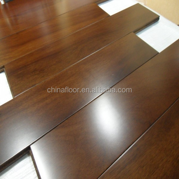 charming texture dark stained smooth Tuan solid wood flooring