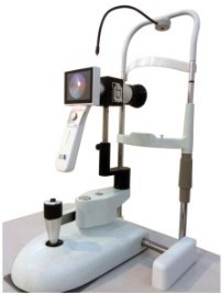 Hand-held non-mydryatic digital fundus camera for animal ophthalmic examination