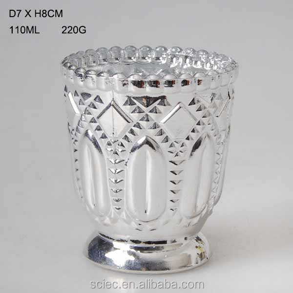hot sale luxury glass candle jar glass candle cup for decoration