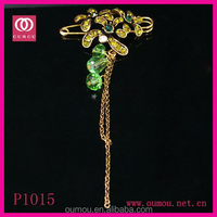 Muslim Crystal Islamic Scarf Pins Costume Brooch Hijab Pins