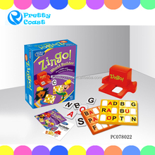 Bingo intelligence card game puzzle games play set
