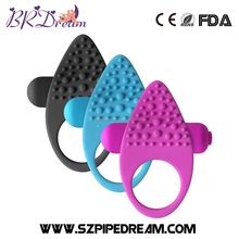 Vibrating Penis Ring Silicone Dual Clitoral Vibrator Reusable Cock Ring Stretchy Delay Penis Rings Sex Toys for Couple/Men/Women