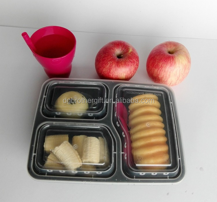 Food Portion Control 3-compartment food container with stocks