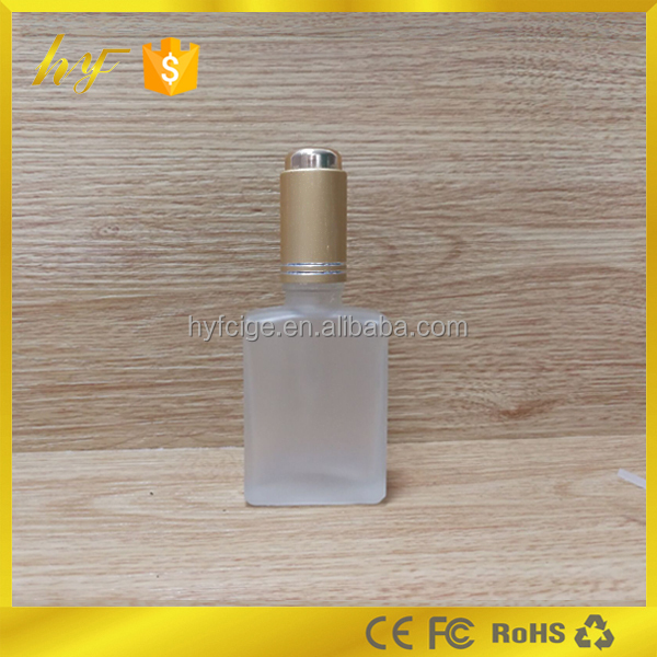 hot sale product in USA and Europe 30ml rectangle frosted clear glass bottle with pump