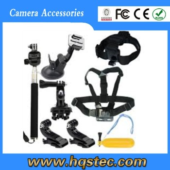 2015 Gold supplier gopros accessories set gopros kit gopros accessories kit