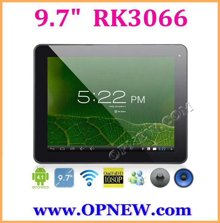 9.7 INCH RK3066 dual core Tablets Android 4.2 1.6GHz 3G Tablet PC with Bluetooth, Pen Input Technology,10 Point Capacitive OPNEW
