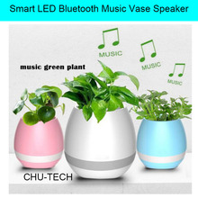 New Smart LED Bluetooth Music Vase Speaker Real Plant Touch Sensing Flower Pot USB Charge Waterproof Altavoces Haut-parleur