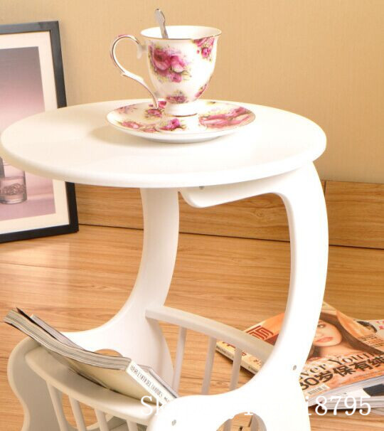 Modern Design Mini white South Korea style Wooden Tea Table