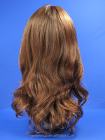 N6085 wigs hair for white women long body wave synthetic hair red brown hair for women/Ladies with no bangs