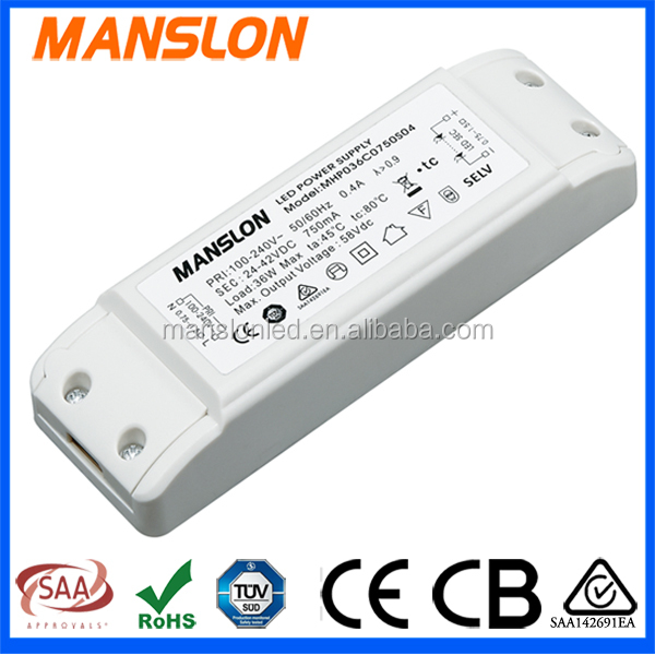 12v dc input led driver 36w switching power supply