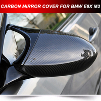 AUTO CARBON DOOR REARVIEW MIRROR CAPS COVER FOR BMW E90 E92 M3