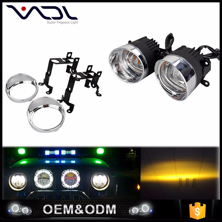 Fog LED car strobe light 12v dc de auto led light bulb headlight lens for cars