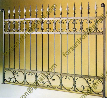 Antique forged iron fence panels for high end market (made in China)