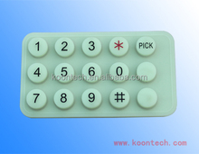KOONTECH home security keypad,big size pin pad,silicone rubber keyboard k3