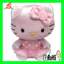 Wholesale custom lovely doll stuffed plush Hello kitty
