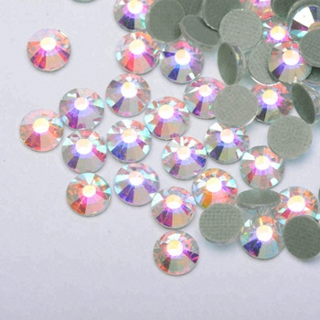 Sample Free loose glass diamonds Non flatback Hot Fix Rhinestones manufacturer