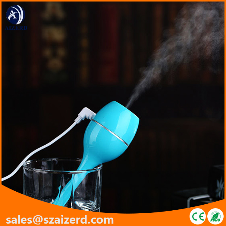portable glass humidifier with USB Cable Line